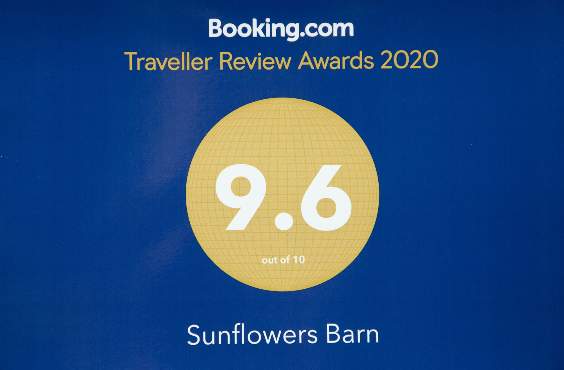 Sunflowers booking.com rating