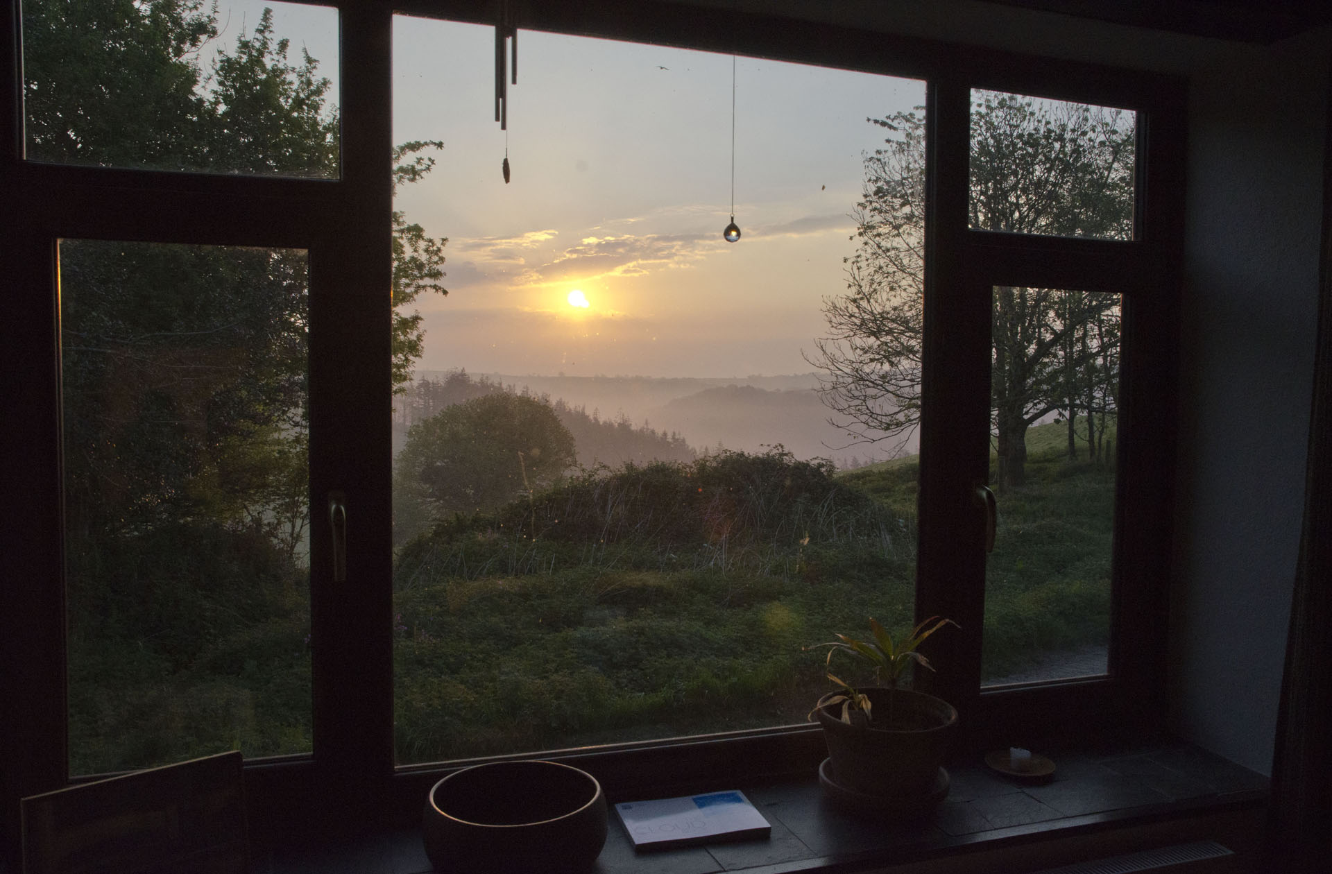Sunrise from window